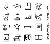 education icons set. set of 16... | Shutterstock .eps vector #659836993