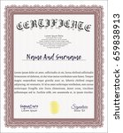 red certificate template or... | Shutterstock .eps vector #659838913