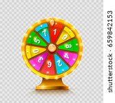 colorful fortune wheel....   Shutterstock .eps vector #659842153
