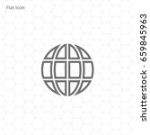 vector globe icon of the world | Shutterstock .eps vector #659845963