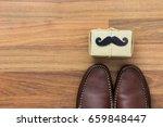 gift box  paper mustache  shoes ... | Shutterstock . vector #659848447