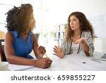 multi ethnic group of pretty... | Shutterstock . vector #659855227