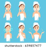 attractive young woman with a... | Shutterstock . vector #659857477