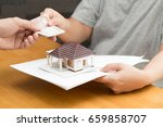 mortgage home | Shutterstock . vector #659858707