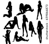 isolated  silhouette girl sexy ... | Shutterstock . vector #659866873