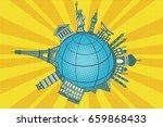 famous landmarks of the world.... | Shutterstock .eps vector #659868433