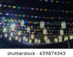 colour flag with blur and bokeh | Shutterstock . vector #659874343
