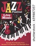 retro styled jazz festival... | Shutterstock .eps vector #659887357