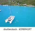 Catamaran Drone Picture From...