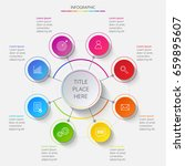bright circular infographics of ...   Shutterstock .eps vector #659895607