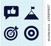 set of 4 goal filled icons such ... | Shutterstock .eps vector #659899837