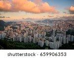 hongkong cityscape in the...   Shutterstock . vector #659906353