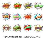 pop art comic speech bubble... | Shutterstock .eps vector #659906743