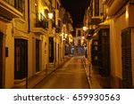cobbled ronda streets  old city ... | Shutterstock . vector #659930563