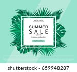summer sale banner  poster with ... | Shutterstock .eps vector #659948287