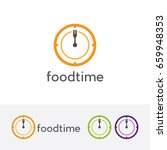 eat time logo  vector logo... | Shutterstock .eps vector #659948353