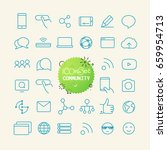 outline icon set. web and... | Shutterstock .eps vector #659954713
