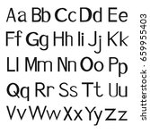 printed letters of the english... | Shutterstock .eps vector #659955403