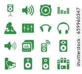 stereo icons set. set of 16... | Shutterstock .eps vector #659960347