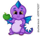 purple dragon character with...