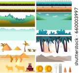 platformer game assets set of...