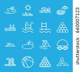 pool icons set. set of 16 pool...   Shutterstock .eps vector #660007123
