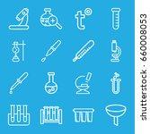 laboratory icons set set of 16