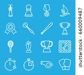 competition icons set. set of... | Shutterstock .eps vector #660009487