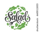 Lettering Salad With Vegetable...
