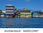 colorful waterfront colonial... | Shutterstock . vector #660012487