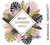 summer banner with paper... | Shutterstock .eps vector #660013477