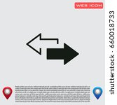 2 side arrow premium... | Shutterstock .eps vector #660018733