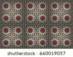 vintage raster floral seamless... | Shutterstock . vector #660019057