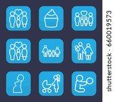 mom icon. set of 9 outline mom... | Shutterstock .eps vector #660019573
