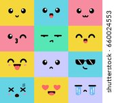 emoji square emoticon smile... | Shutterstock .eps vector #660024553