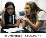 high school students studying... | Shutterstock . vector #660034747