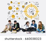 students working network... | Shutterstock . vector #660038323