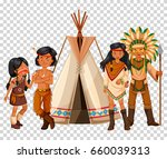 native american family and...   Shutterstock .eps vector #660039313