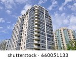residential buildings in cloudy ... | Shutterstock . vector #660051133