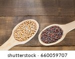 seeds of yellow and black... | Shutterstock . vector #660059707