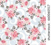 seamless floral pattern with... | Shutterstock .eps vector #660060517