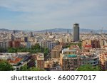 barcelona  spain  28 may 2017 ... | Shutterstock . vector #660077017