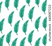 tropical leaf summer pattern | Shutterstock .eps vector #660087223