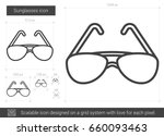 sunglasses vector line icon... | Shutterstock .eps vector #660093463