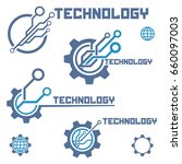 set of circuit tech elements.... | Shutterstock .eps vector #660097003