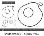 sunny side up eggs vector line... | Shutterstock .eps vector #660097963
