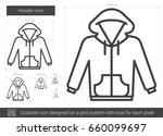 hoodie vector line icon... | Shutterstock .eps vector #660099697