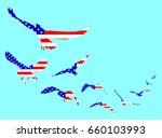american flag on bird shape.... | Shutterstock .eps vector #660103993