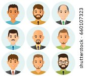 business men flat avatars set... | Shutterstock .eps vector #660107323