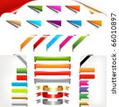 corners and ribbons  isolated... | Shutterstock . vector #66010897